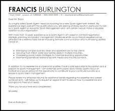 sports agent cover letter sample livecareer