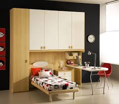 Red Bedroom For Boys Minimalist Teeenage Bedroom For Boys With Single Bed Frame With
