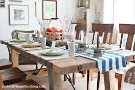 farm table dining room farmhouse table perfectly imperfect blog