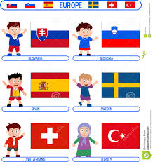 Flags Of Countries In Europe Kids U0026 Flags Europe 7 Illustration 5398368 Megapixl