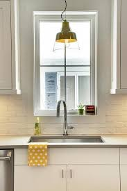 brick backsplashes for kitchens white painted brick kitchen backsplash transitional kitchen