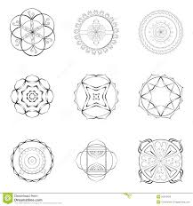 nine mandalas outline designs stock illustration image 50976426