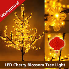 Decorative Trees With Lights 2017 1 5m Led Crystal Cherry Blossom Tree Light Christmas New Year