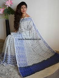 dhakai jamdani banarasee banarasee handloom cotton dhakai jamdani saree with