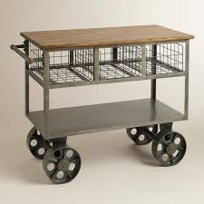 wheels for kitchen island new vintage kitchen island rolling cart trolley on wheels wood top