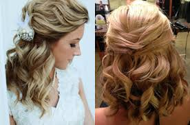 bridal hairstyle for marriage classy choice of half up and half down wedding hairstyles for