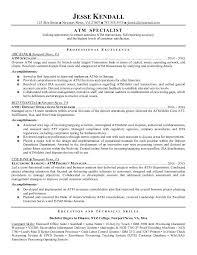 resume template for job change resume exles for teller position bank exle sle template