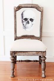 Skeleton Halloween Crafts Diy Halloween Skeleton Skull Chair A Fun Upcycle For A