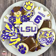 lsu cookies lsu tigers football cookies tiger cookies fleur de