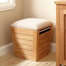 Bathroom Cabinet With Hamper Teak Laundry Hamper Stool Large Bathroom
