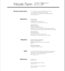 resume samples personal information