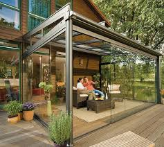 Enclosed Patio Design Glass Patio Rooms From Weinor Glasoase Backyard Retreat