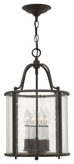 Foyer Pendant Light Fixtures Hinkley 3474ob Gentry Small Transitional Olde Bronze 12 Inch Wide