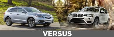 acura vs bmw 2016 acura rdx vs 2015 bmw x3 continental acura of naperville