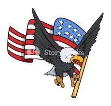 Bald Eagle And American Flag Bald Eagle With American Flag Patriotic Vector Royalty Free Stock