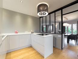plan de travail cuisine blanc brillant davaus cuisine integree moderne recente blanc laque avec plan de