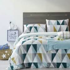 triangle bedding triangle pattern satin cotton duvet cover bedding twin full queen