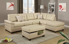 reversible sectional sofas amazon com poundex bobkona randel bonded leather 2 piece