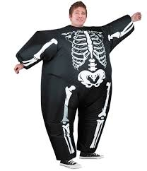 Inflatable Halloween Costumes Adults Men U0027s Inflatable Skeleton Costume Costumes