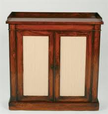 regency rosewood small bookcase the top galleried fitted two full