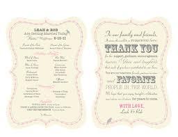 wedding program fan wording wedding stationery rob in malibu program fans