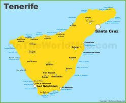 Map Of San Juan Islands Tenerife Maps Canary Islands Spain Map Of Tenerife