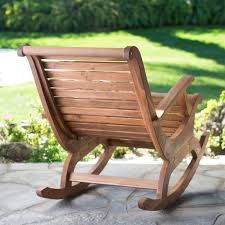 Outdoor Rocking Chairs For Heavy Belham Living Avondale Oversized Outdoor Rocking Chair Natural