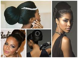 black hairstyles with bun and bangs popular wedding hairstyle ideas for black women hair world magazine