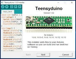 teensyduino download and install teensy support into the arduino ide