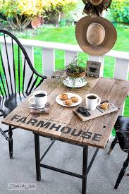 Farmhouse Patio Furniture Industrial Farmhouse Window Valance Sign And Table Sized