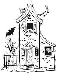 Halloween Coloring Books Halloween Coloring Pages Haunted House Coloring Page Halloween