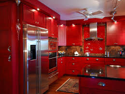 Ideas  Charming Red High Gloss Kitchen Tiles High Gloss Red - Red lacquer kitchen cabinets