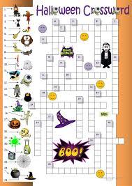printable halloween crossword puzzle halloween crossword for beginners worksheet free esl printable