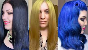 Should You Wash Your Hair Before Coloring - hair transformation box dye black to blonde to blue the