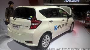 nissan note nissan note e power rear three quarters at giias 2017 indian