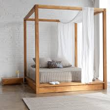 Wood Canopy Bed Frame Wood Canopy Bed Frame Pertaining To Attractive Home Wooden