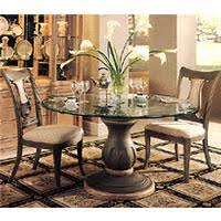 florence dining table glass top with single pedestal table base