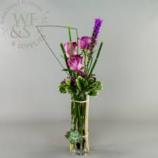 Wholesale Flower Vase Square Glass Bud Vase 10x2x2 Wholesale Flowers And Supplies