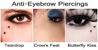 rising of modern piercing the anti eyebrow butterfly