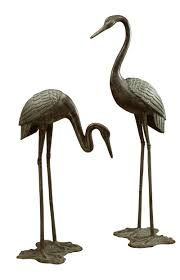 Home Sculptures by Large Garden Crane Pair Sculpture By Spi Home 3190 You Save