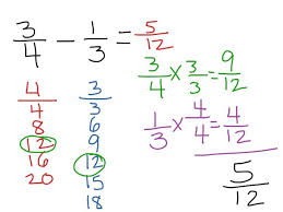quiz worksheet adding subtracting fractions with and unlike