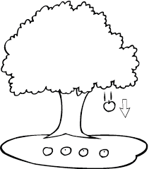 spring blooming tree coloring page for kids seasons pages