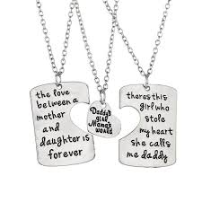 pendant necklace set images 3pcs family pendant necklace set father and mother i love u gift jpg