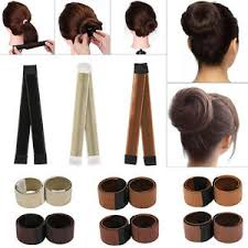 hair bun maker chic women s magic hair bun snap styling donut former twist