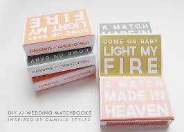 wedding matchbooks diy wedding matchbooks the name is