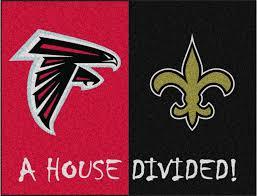 nfl atlanta falcons new orleans saints house divided rugs 34x45