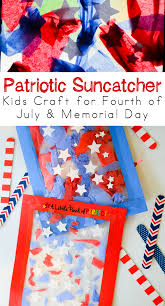 patriotic suncatcher kids craft for fourth of july memorial day