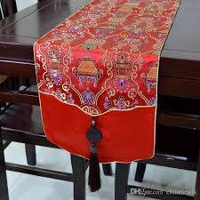Christmas Table Runner Decoration by New Style High Grade Luxury Patchwork Jade Table Runner Elegant