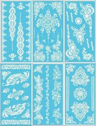 white henna tattoo sticker flower lace temporary party tatoo body