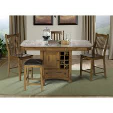 Kincaid Tuscano Dining Room Set Copley Solid Wood Counter Height Dining Set With Self Storing Leaf